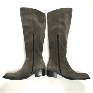 EUC Born Borda Over the Knee Gray Suede Boots-9.5
